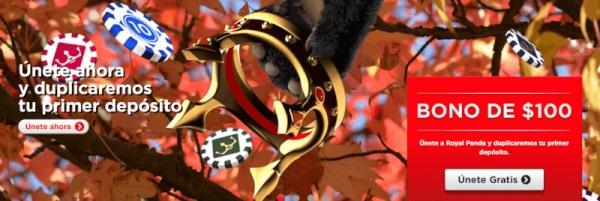 royal panda bono de bienvenida