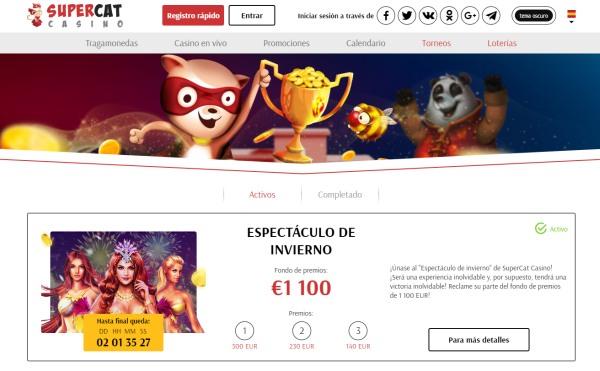 supercat casino torneos
