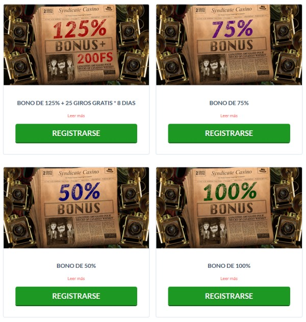 syndicate casino bonos